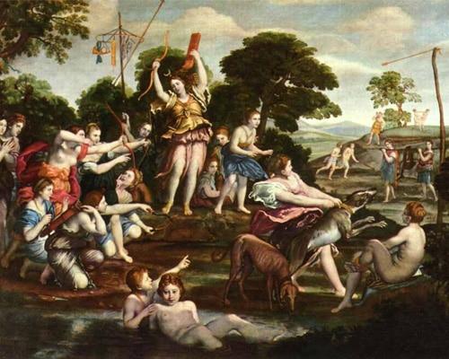 Охота Дианы, Доминикино. 1616-1617 гг.