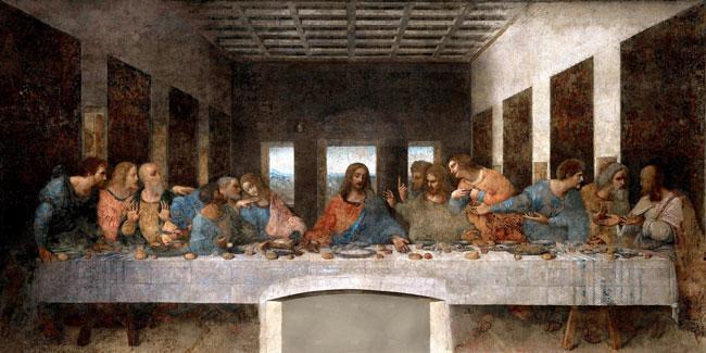 Фреска «Тайная Вечеря», Леонардо да Винчи.