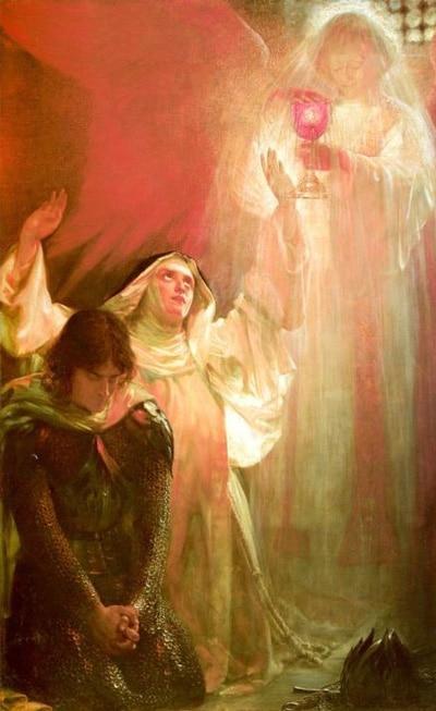 Картина «Видение сестры сэра Персиваля», Сигизмунд Гоетзе.