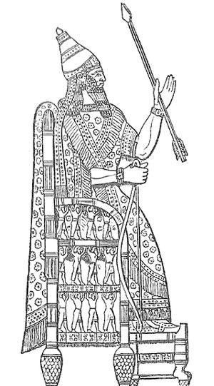 Изображение царя Синаххериба