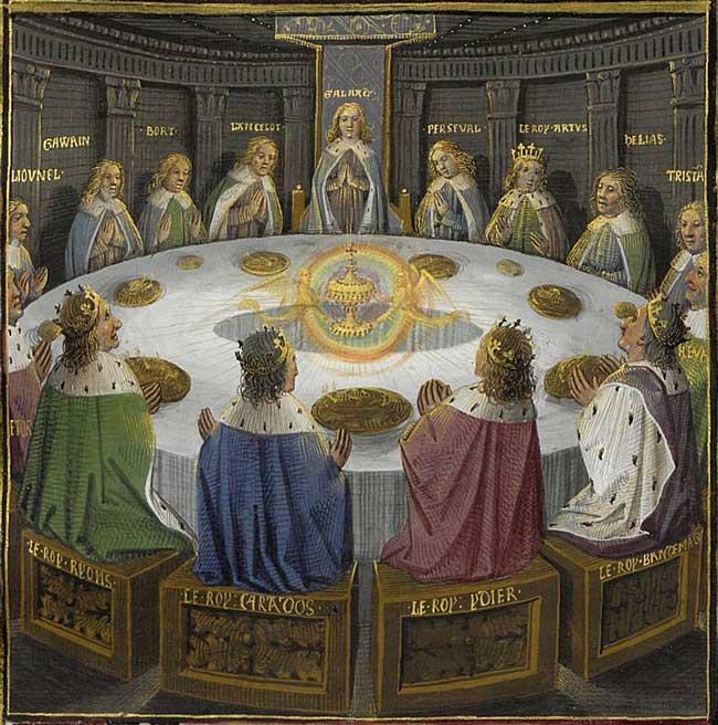 Фреска «Рыцари Круглого стола и видение Святого Грааля», Эврар д'Эспенк