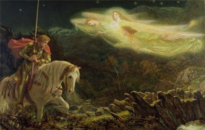Картина «Сэр Галахад. Поиск Святого Грааля», А. Хьюз.