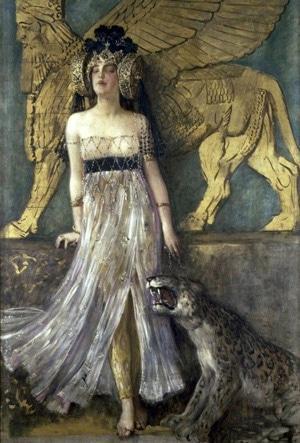 Картина «Великая Семирамида, царица Ассирии», Ч. Саккаджи.