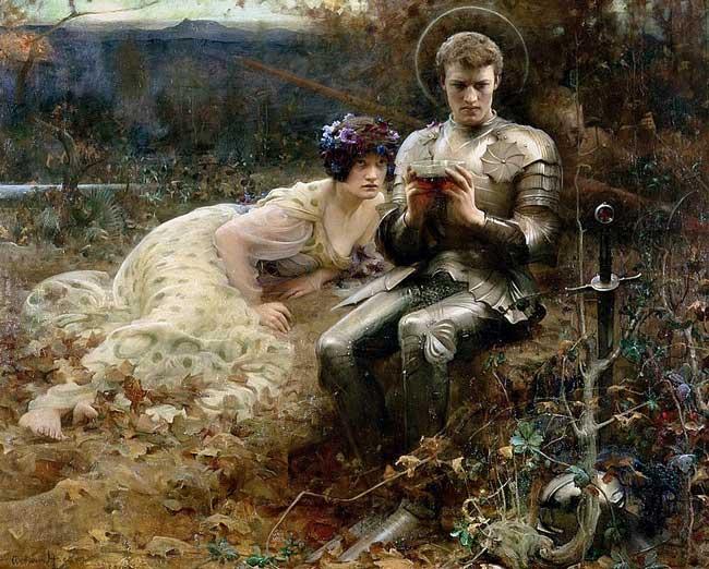 Картина «Искушение сэра Парцифаля», Артур Хакер