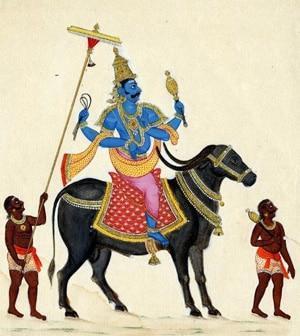Изображение Ямы – бога смерти в буддизме, около 1820 г., Британский музей.