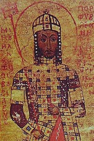 Миниатюра с портретом Мануила I Комнина