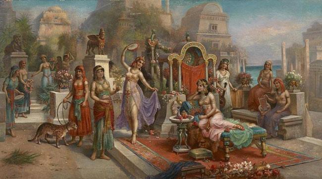 Картина «Висячие сады Семирамиды», Х. Вальдек.