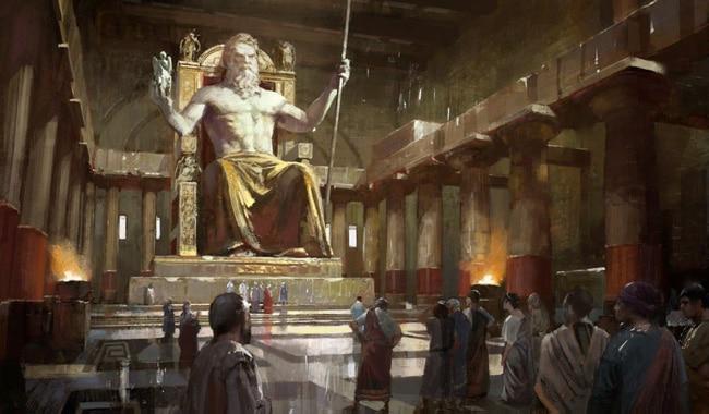 Скульптура Древнегреческого Бога