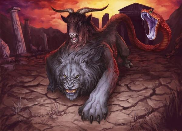 Химера - мифическое существо, фото на mifistoria.info