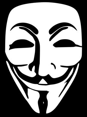 Изображение маски как символа анонимности