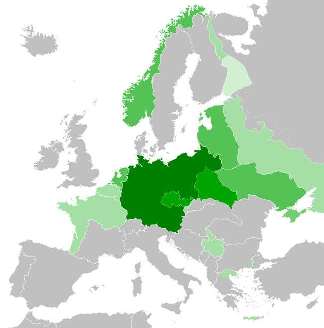 Территория Германии в 1942 году