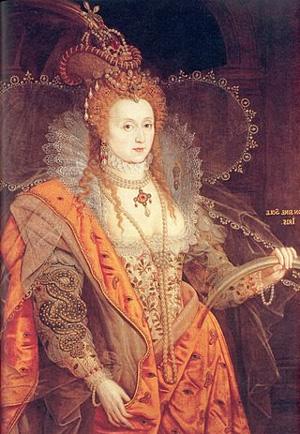 Портрет королевы Елизаветы I, художник Оливер Исаак.