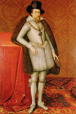 Портрет короля Якова I, художник Декриц Джон