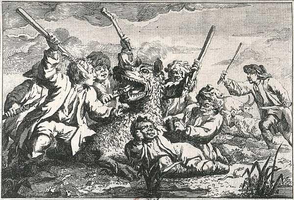 Жак Портфе и его друзья побеждают волка