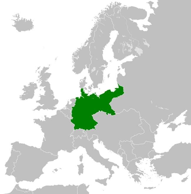 Территория Второго Рейха в 1914 году