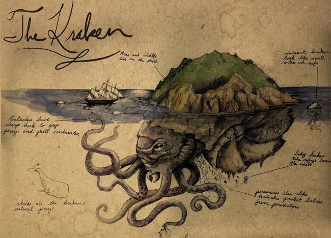 Кракен, похожий на остров