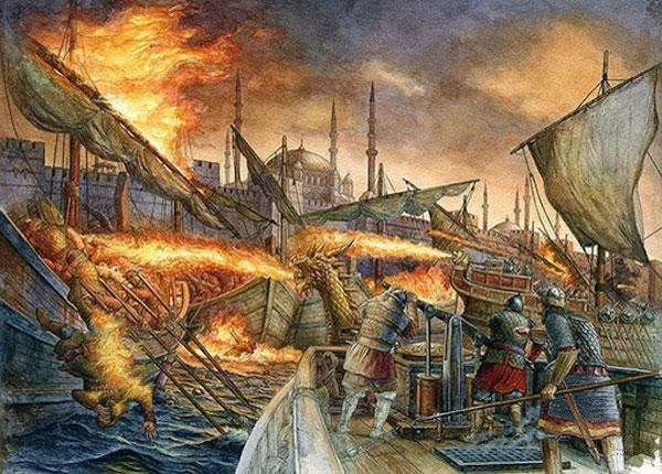 Греческий огонь - история и фото на mifistoria.info