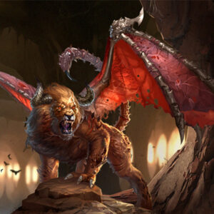 Мантикора - чудовище в мифологии, фото на mifistoria.info