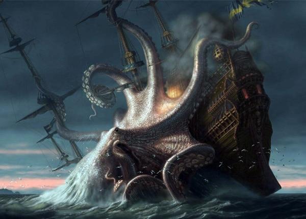 Монстр кракен - миф или история, картинки на mifistoria.info