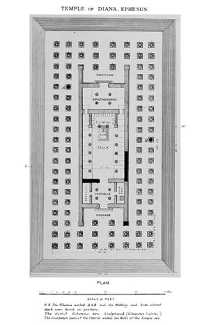 Схема храма, созданная археологом Джоном Вудом.