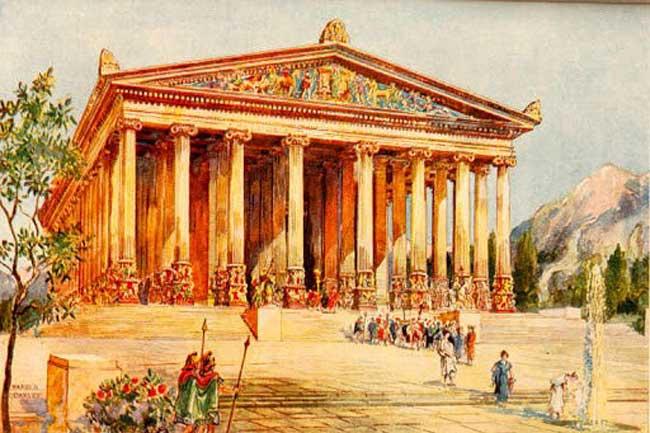 Рисунок Эфесского храма.