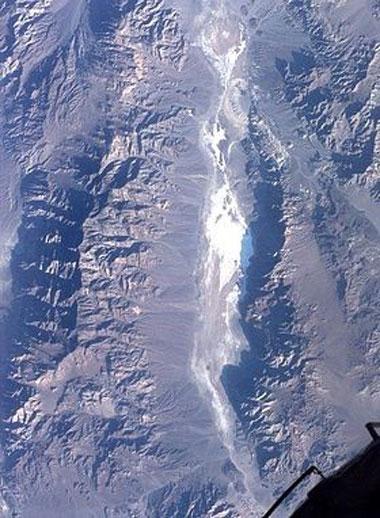 Долина Смерти, Северная Америка, вид из космоса