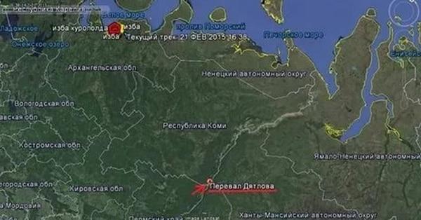 Где перевал Дятлова, карта