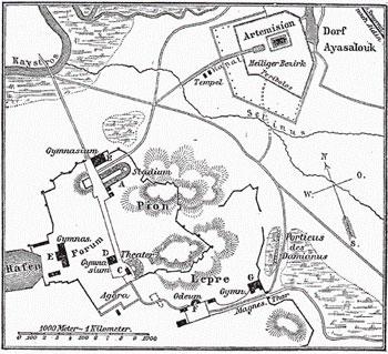 Карта города Эфес