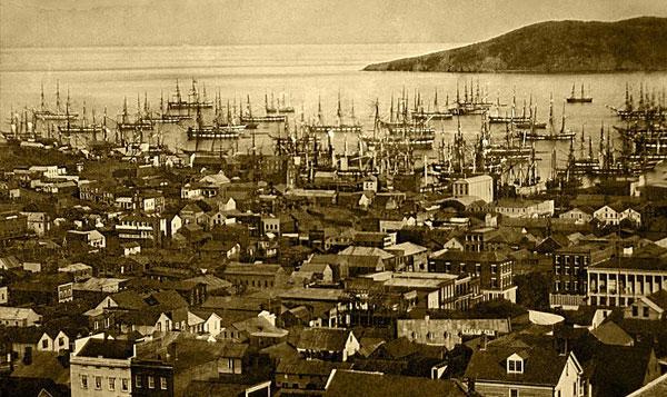 Фото Сан-Франциско в 1850 г.