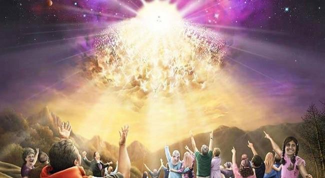 Картина, на которой изображен Второй приход Иисуса Христа