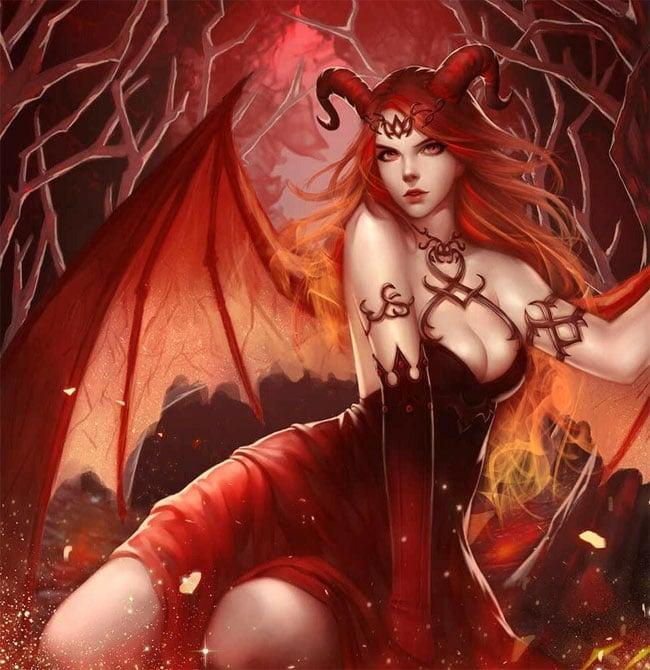 Образ привлекательного демона