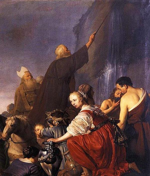 Картина с изображением Моисея с посохом. Автор: Питер де Греббер
