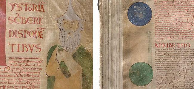 Изображение молящегося человека и дуэта Земли и Неба