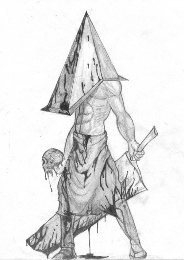 Пирамидоголовый: эскиз тату
