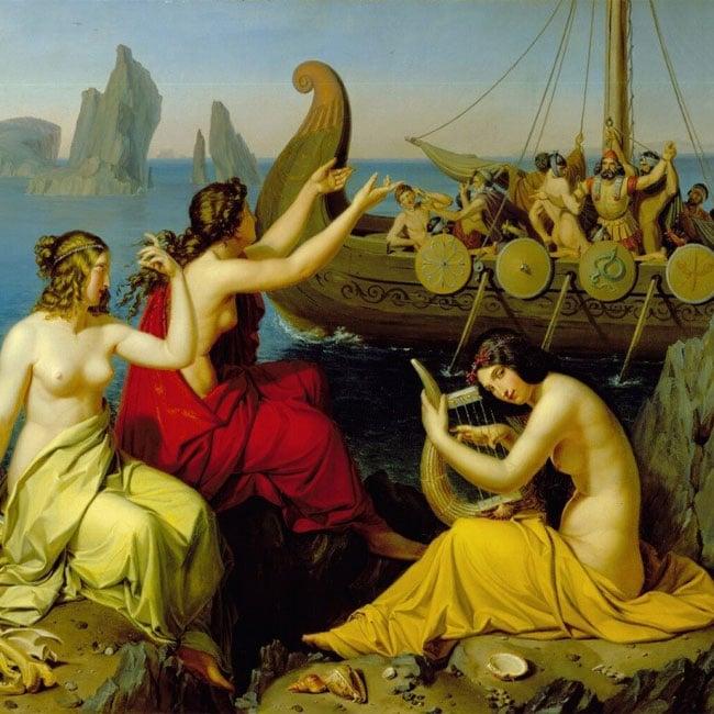 Одиссей, очарованный волшебным пением мифических существ