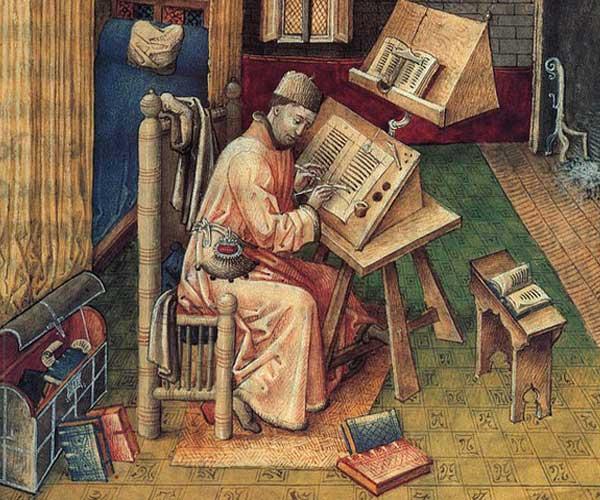 Монах пишет Библию Дьявола