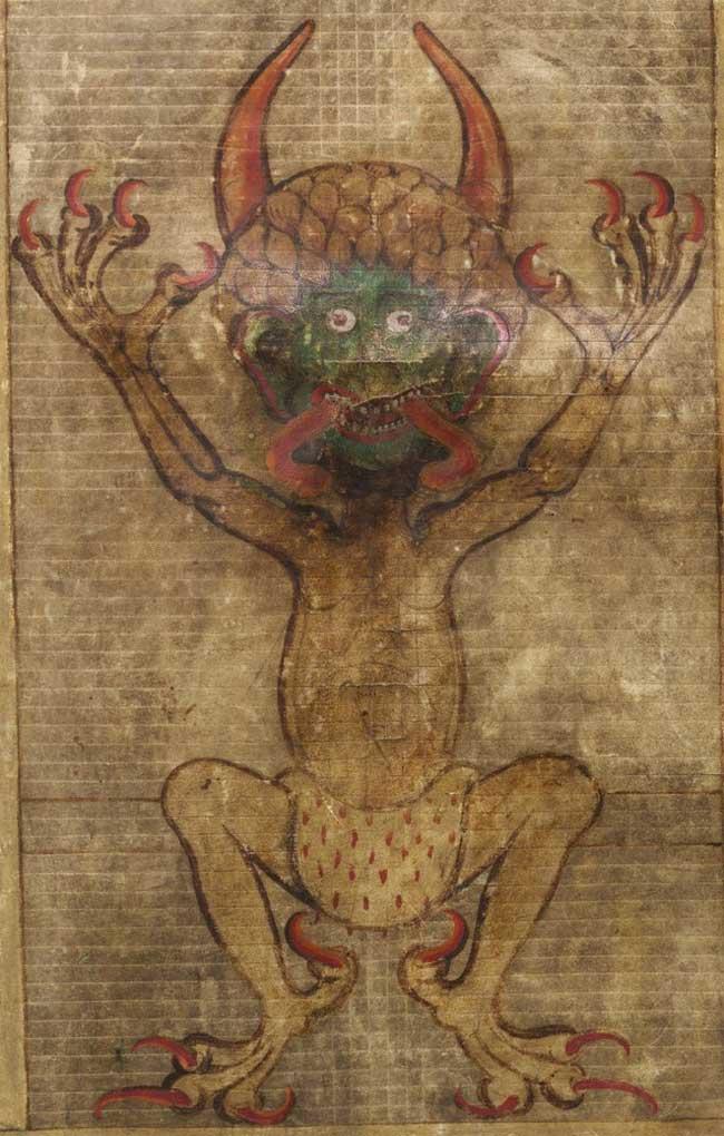 Изображение фигуры Дьявола в Книге