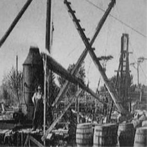 Фотография, сделанная во время работ по бурению синдикатом