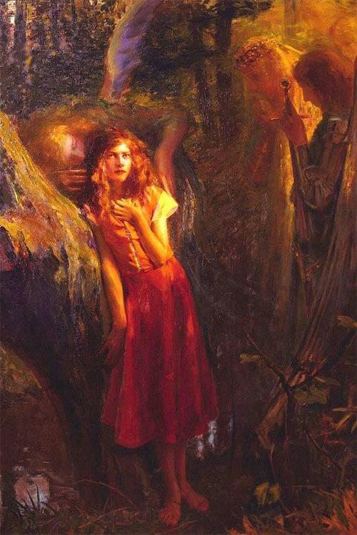 Картина «Жанна слышит голоса святых» Г. Бюссьер
