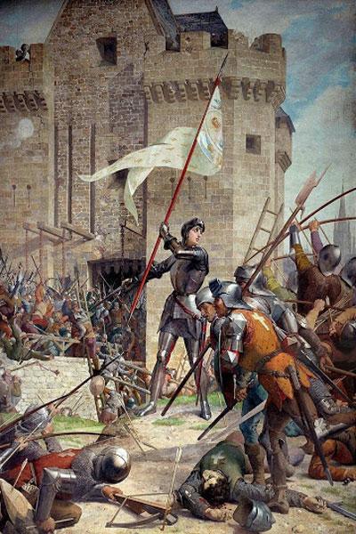 Картина «Жанна д'Арк при осаде Орлеана» Ш. Ленепвё