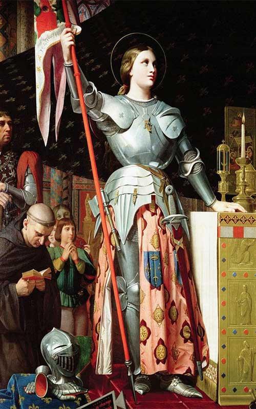 Картина «Жанна д'Арк на коронации Карла VII» Ж. Энгр