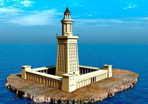 Легендарный маяк на острове Форос в Египте