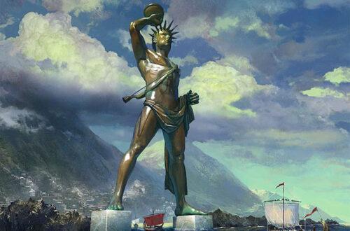 Чудо света: Колосс Родосский - воздвигнут в честь бога Гелиоса на mifistoria.info