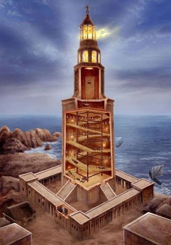 Вид изнутри Фаросского маяка