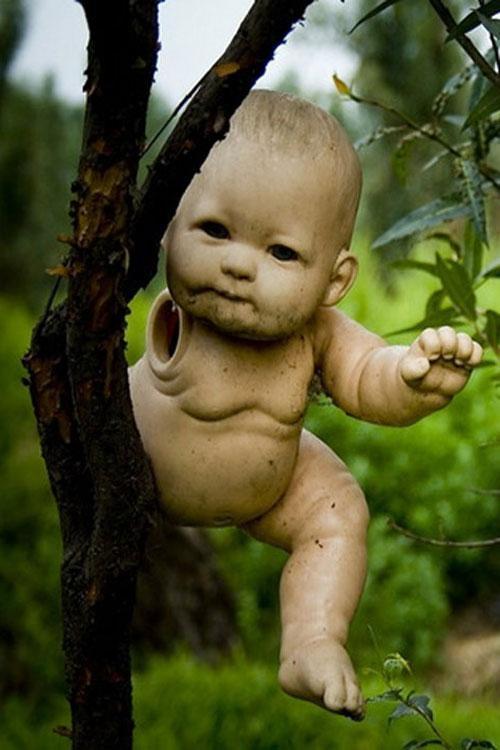 Реалистичное лицо куклы