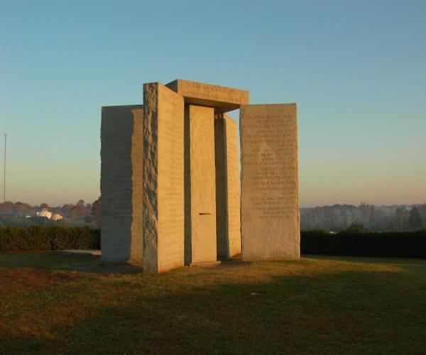 Местонахождение монумента скрижали Джорджии: США, Джорджия, Элберт, г. Элбертон