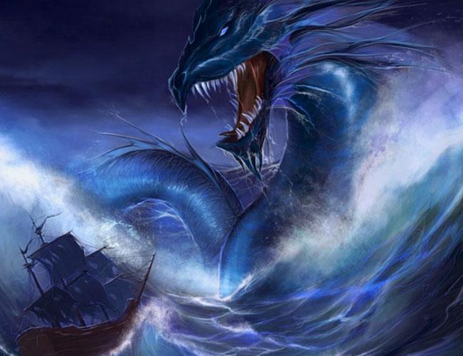 Корабль столкнулся с морским змеем
