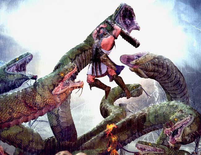 Первое сражение Геракла с Гидрой