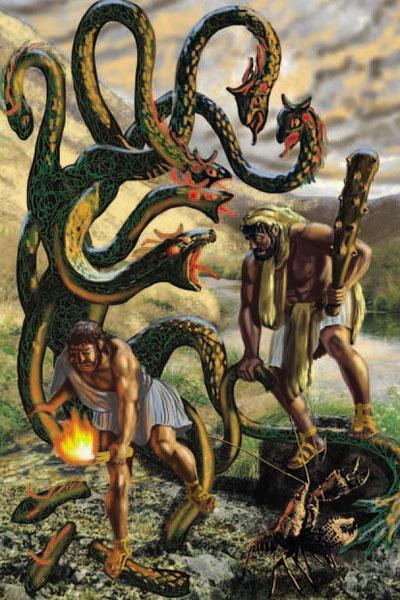 Иолай поджигает Гидру