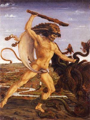 Геркулес и гидра, Антонио дель Поллайоло